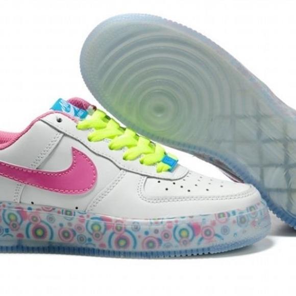White Rose Marina Blue Nike Air Force 1